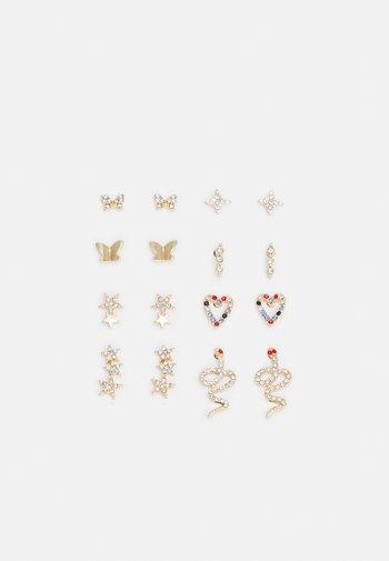 PCWILD EARSTUDS 8 PACK - Earrings - gold-coloured