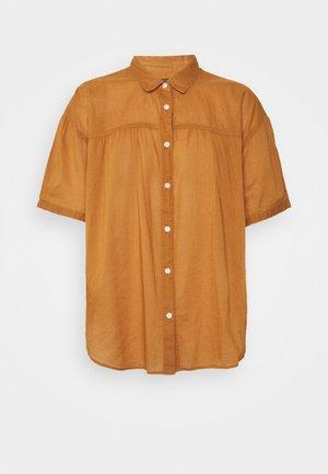 SHIRRED - Button-down blouse - winter ochre