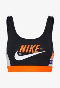 Nike Performance - MED PAD BRA - Sujetador deportivo - black/safety orange/vast grey/white - 4
