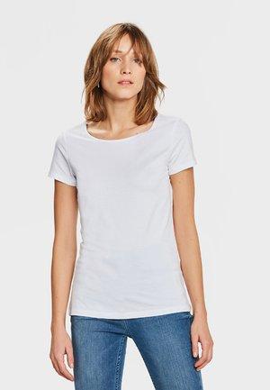 WE FASHION DAMEN-T-SHIRT AUS BIO-BAUMWOLLE - T-shirt basic - white