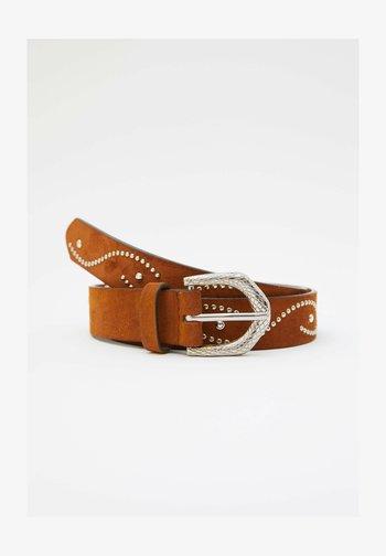 MIT SCHLANGENSCHNALLE - Belt - brown