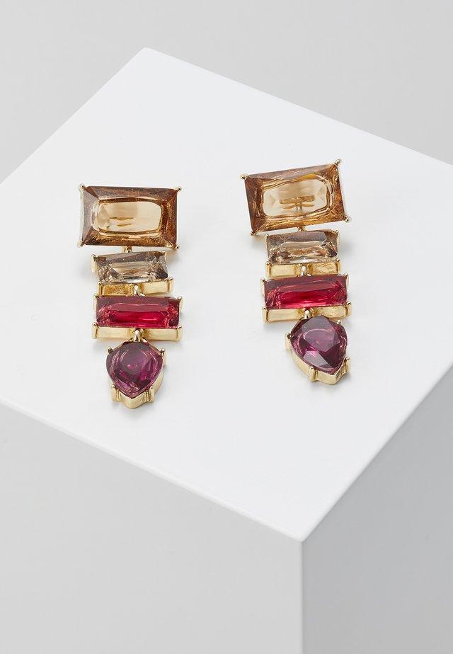 PCKRYSTALOS EARRINGS - Kolczyki - gold-coloured/red
