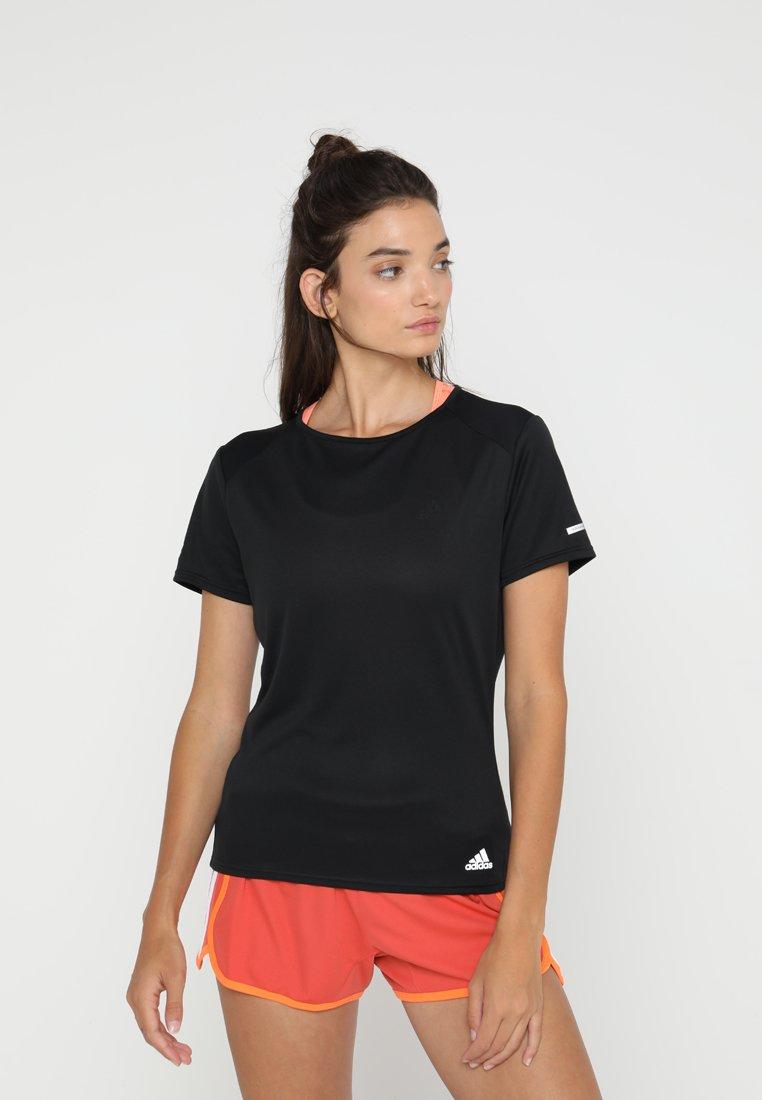 adidas Performance - RUN TEE  - T-shirts print - black
