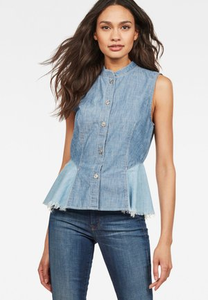 BRISTUM FLARE - Button-down blouse - blue