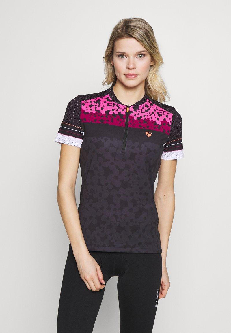 Ziener - NELSA - T-Shirt print - black/pink