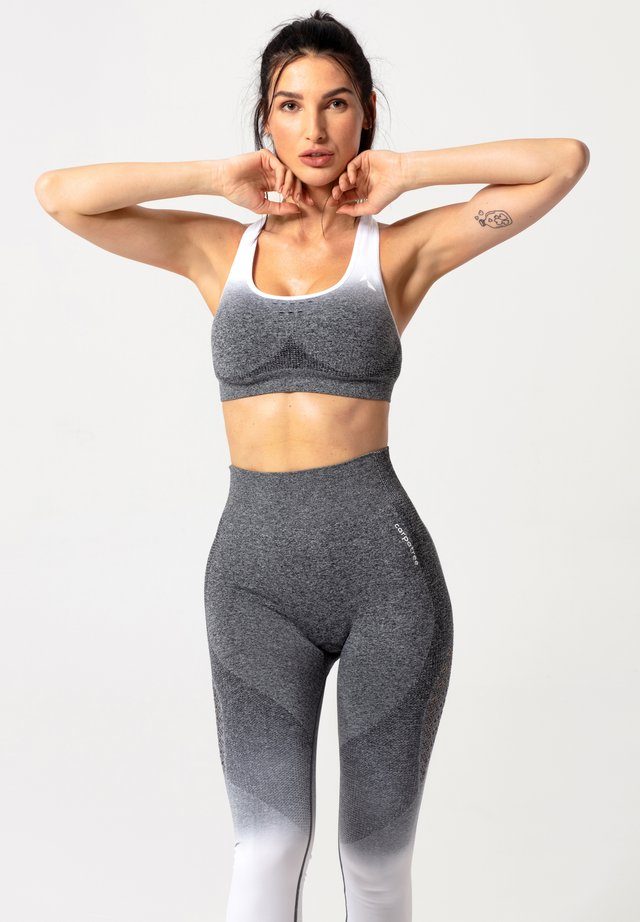 PHASE SEAMLESS - Sport BH - grey & white ombre