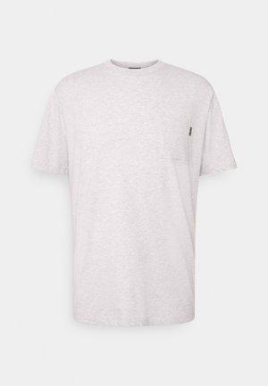 CHEST POCKET - Basic T-shirt - grey melange