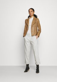 DRYKORN - PAISLY - Leather jacket - braun - 1