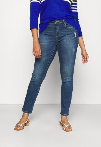 CARLAUW LIFE - Slim fit jeans - medium blue denim