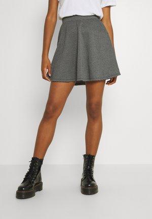 ONLINA SKATER SKIRT  - Mini skirt - cloud dancer/black