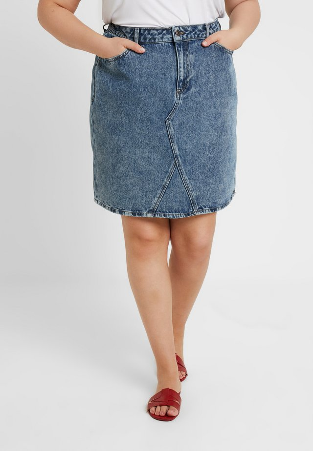 MID EVA SKIRT - Denim skirt - mid blue