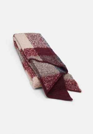 PCPYRON CHECKED LONG SCARF - Szal - bordeaux