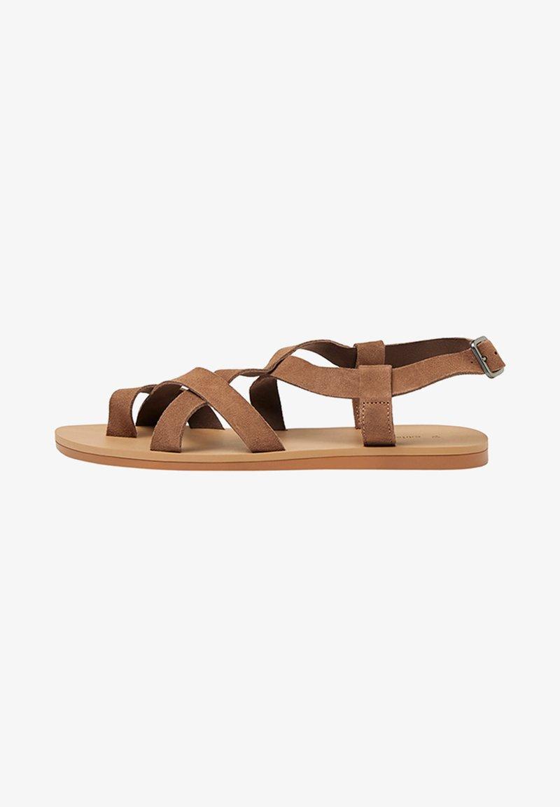 Bershka - Sandales - brown
