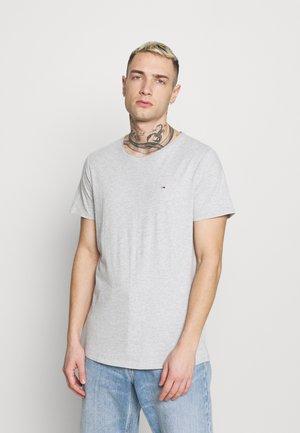SLIM JASPE C NECK - T-paita - grey