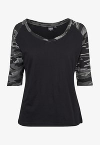 Urban Classics - Print T-shirt - black/light grey - 6