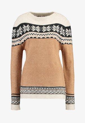 Pullover - cream nut snow