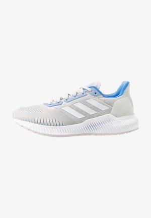 SOLAR RIDE - Juoksukenkä/neutraalit - grey one/footwear white/glow blue