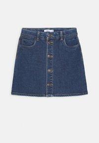 Name it - NKFTECOS A SHAPE SKIRT - A-line skirt - dark blue denim - 0