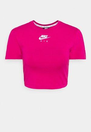AIR CROP - Camiseta estampada - fireberry/white