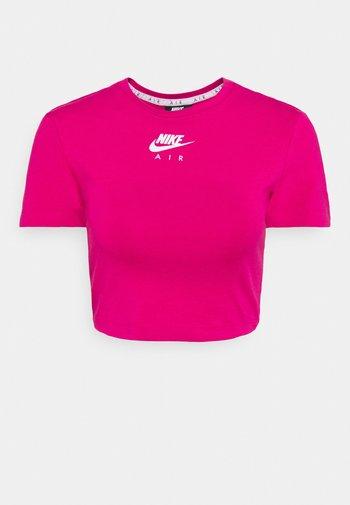 AIR CROP - T-shirt imprimé - fireberry/white