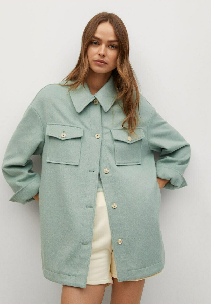 Mango - CAKE - Button-down blouse - mint green