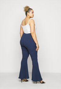 Glamorous Curve - FLARE TROUSERS - Trousers - teal - 2