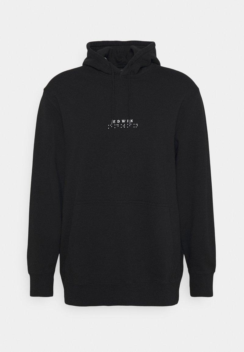 Edwin - NAZO HOODIE UNISEX - Sweatshirt - black