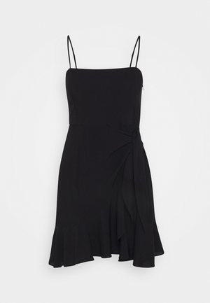 PAMELA REIF KNOT DETAIL MINI DRESS - Denní šaty - black