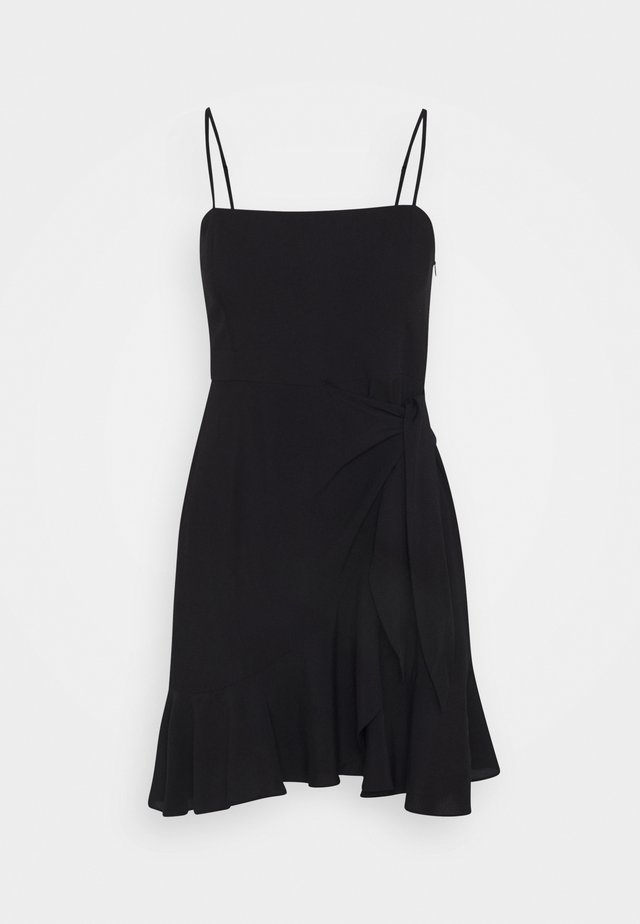 PAMELA REIF KNOT DETAIL MINI DRESS - Day dress - black