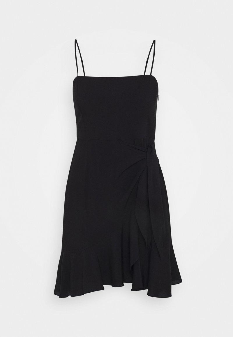 NA-KD - PAMELA REIF KNOT DETAIL MINI DRESS - Denní šaty - black