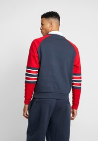 Karl Kani - SIGNATURE BLOCK CREW - Mikina - navy/red/white - 2