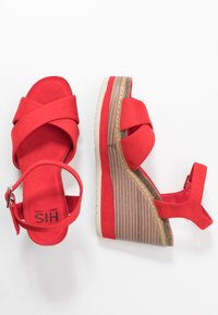 H.I.S - Sandály na vysokém podpatku - red - 3