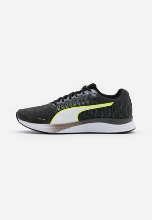 SPEED SUTAMINA - Neutral running shoes - black/castlerock/yellow alert/white