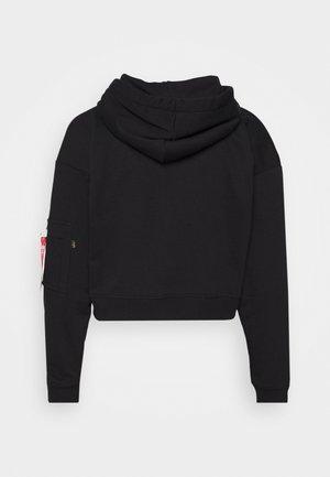 BASIC BOXY ZIP HOODY  - Zip-up hoodie - black
