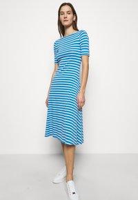 Lauren Ralph Lauren - Jersey dress - captain blue/white - 3