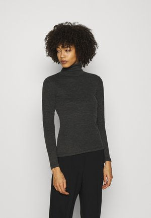 Long sleeved top - mottled dark grey