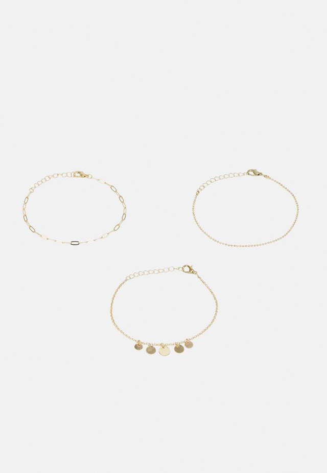 ONLVERA ANKLE BRACELET 3-PACK - Muut asusteet - gold colour/3x diff. design
