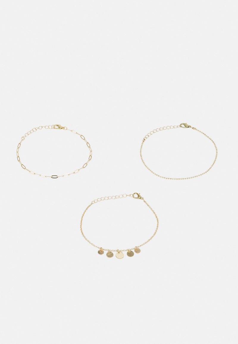 ONLY - ONLVERA ANKLE BRACELET 3-PACK - Other accessories - gold colour/3x diff. design