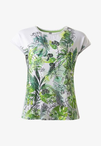 FRESNO  - Print T-shirt - white