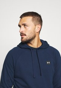 Under Armour - RIVAL  - Hoodie - academy/onyx white - 3