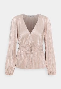 Abercrombie & Fitch - WRAP BLOUSE - Long sleeved top - rose gold - 0