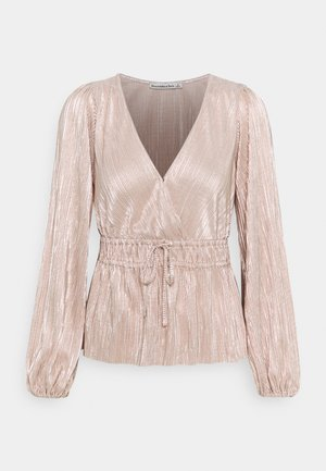 WRAP BLOUSE - Long sleeved top - rose gold