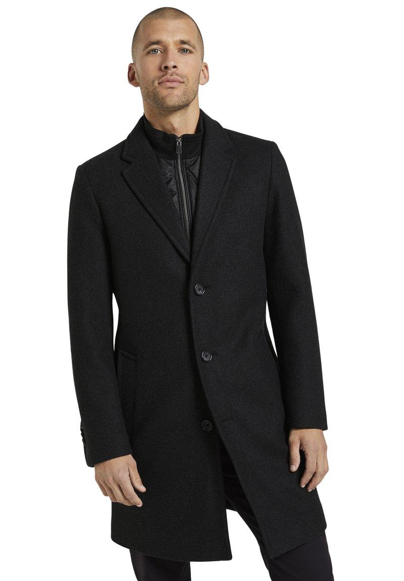 TOM TAILOR - Classic coat - dark grey wool jacket