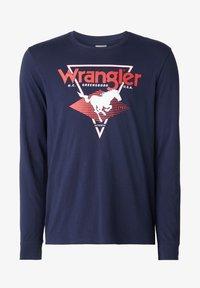Wrangler - LS MODERN AMERICANA - T-shirt z nadrukiem - navy - 4