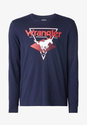 LS MODERN AMERICANA - Print T-shirt - navy