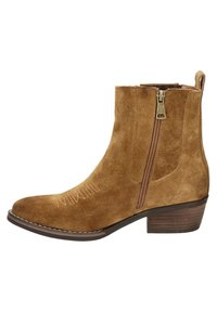 Nelson - Cowboy/biker ankle boot - cognac - 0