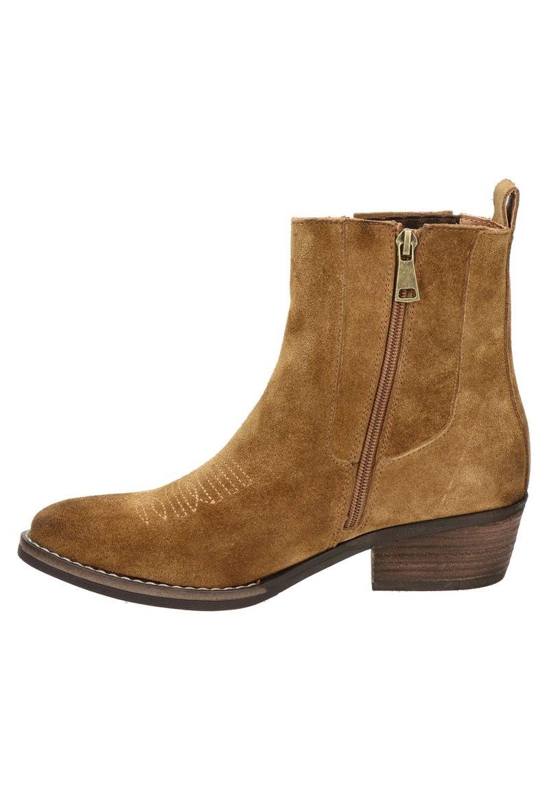 Nelson - Cowboy/biker ankle boot - cognac
