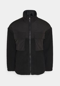 Mennace - DOUBLE POCKET BORG ZIP THRU - Summer jacket - black - 4