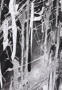 Christopher Kane - MINDSCAPE ONE SHOULDER DRESS - Vestito di maglina - black/white - 6