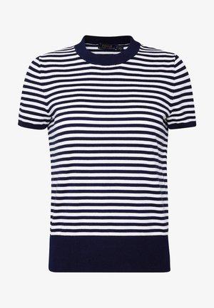 STRIPE SHORT SLEEVE - Print T-shirt - bright navy/white